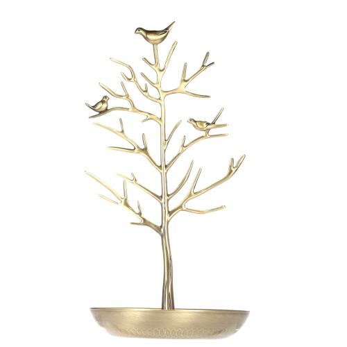 Buy Metal Birds Tree Jewelry Stand Display Rack Hanging Earring Necklace Bracelet Holder Organizer Storage Tower Accessory