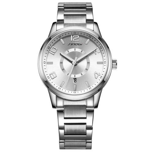 Buy SINOBI 2016 New Fashion Couple Casual Watches Quartz Round Clock Men Women Watch Rose Gold Alloy Band Ladies Lover's Wristwatch
