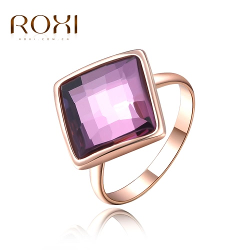 ROXI Hot Fashion Rose Gold Plated Square Austrian Crystal Ring Women Bride Wedding Engagement Jewelry AccessoryRings<br>ROXI Hot Fashion Rose Gold Plated Square Austrian Crystal Ring Women Bride Wedding Engagement Jewelry Accessory<br><br>Blade Length: 4.0cm