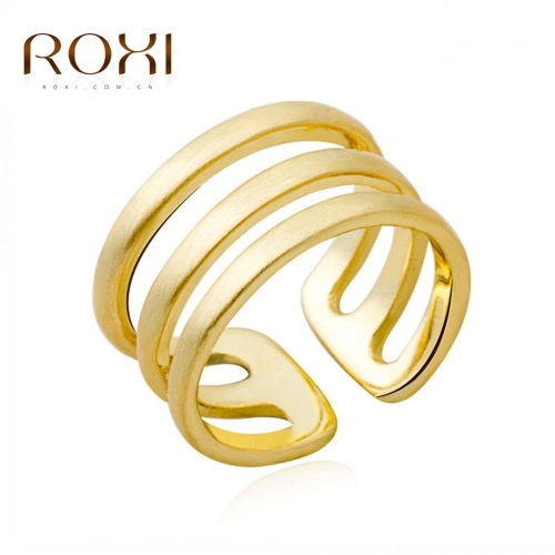 ROXI Gold Plated Smooth Opening Ring Women Bride Fashion Wedding Jewelry Accessory Nice GiftRings<br>ROXI Gold Plated Smooth Opening Ring Women Bride Fashion Wedding Jewelry Accessory Nice Gift<br><br>Blade Length: 4.0cm