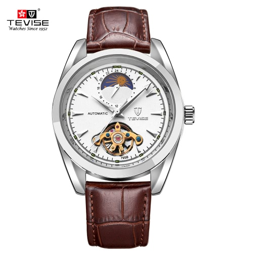 TEVISE Brand New Waterproof Skeleton Moon Phase Fully Automatic Mechanical Unisex Watch Top Brand Luxury Man Watches Self-winding Trendy Business Style Stainless Steel WristwatchMechanical Watch<br>TEVISE Brand New Waterproof Skeleton Moon Phase Fully Automatic Mechanical Unisex Watch Top Brand Luxury Man Watches Self-winding Trendy Business Style Stainless Steel Wristwatch<br><br>Blade Length: 11.0cm