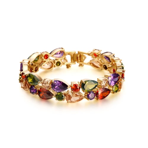 Fashion New Unique Colorful Zircon Rhinestone Crystal Gold Plated Bracelet Bangle for Woman Girl Wedding Gift PartyBracelets &amp; Bangles<br>Fashion New Unique Colorful Zircon Rhinestone Crystal Gold Plated Bracelet Bangle for Woman Girl Wedding Gift Party<br><br>Blade Length: 10.0cm