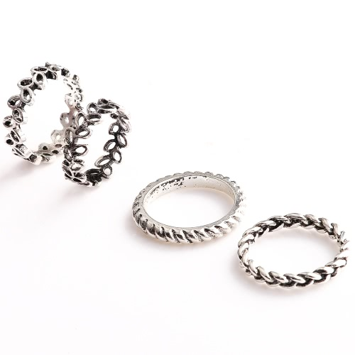 4 Pcs Fashion New Hot Vintage Retro Anti-silver Plated Knuckle Finger Ring Set Jewelry Accessories for Women Girls Party BandRings<br>4 Pcs Fashion New Hot Vintage Retro Anti-silver Plated Knuckle Finger Ring Set Jewelry Accessories for Women Girls Party Band<br><br>Blade Length: 9.0cm