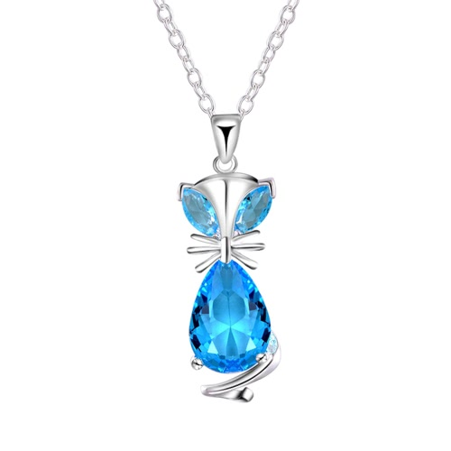 Buy Fashion Unique Style Lovely Animal Fox Copper Zircon Rhinestone Crystal Necklace Chain Jewelry Women Girls Gift Wedding Party