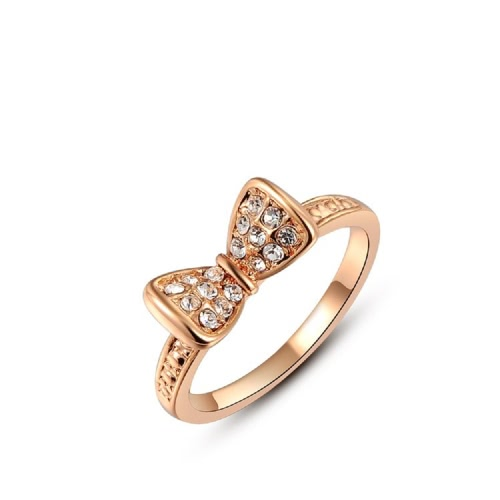 Roxi Fashion Vintage Cute Bowknot Gold Plated Zircon Crystal Rhinestone Ring Hot Jewelry for Women Gift GirlsRings<br>Roxi Fashion Vintage Cute Bowknot Gold Plated Zircon Crystal Rhinestone Ring Hot Jewelry for Women Gift Girls<br><br>Blade Length: 4.0cm
