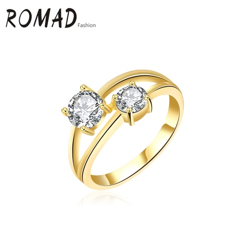 ROMAD Fashion Unique Hot Charm Metal Copper Gold Plated Zircon Rhinestone Crystal Ring for Party Wedding Engagement Jewelry Accessory Women Girl GiftRings<br>ROMAD Fashion Unique Hot Charm Metal Copper Gold Plated Zircon Rhinestone Crystal Ring for Party Wedding Engagement Jewelry Accessory Women Girl Gift<br><br>Blade Length: 4.0cm