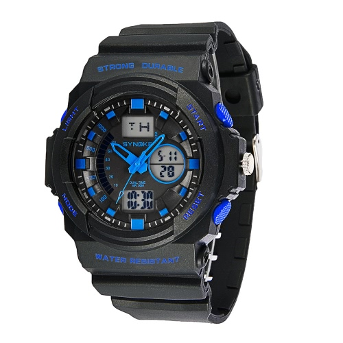 SYNOKE Big Dial 5ATM Water-proof Men Sports Watch Dual Time DisplaySports watch<br>SYNOKE Big Dial 5ATM Water-proof Men Sports Watch Dual Time Display<br><br>Blade Length: 14.0cm