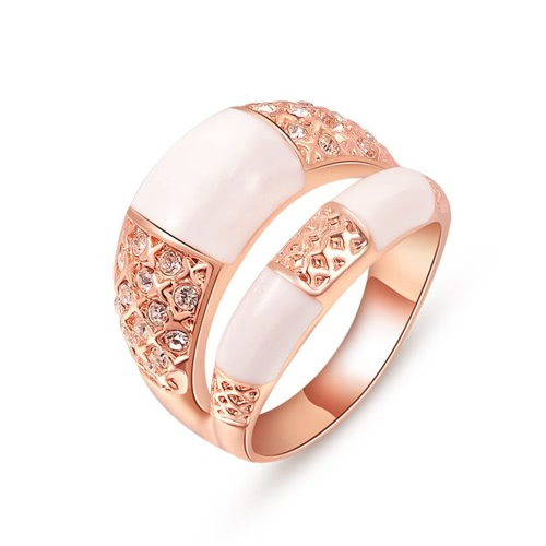Roxi Double Rows Design Gold Plated Zircon Womens Ring for Wedding EngagementRings<br>Roxi Double Rows Design Gold Plated Zircon Womens Ring for Wedding Engagement<br><br>Blade Length: 4.0cm