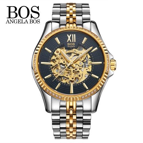 Angela Bos Luxury Automatic Mechanical Wristwatch 3ATM Water Resistant Analog Man Self-winding Skeleton Watch with Luminous HandsMechanical Watch<br>Angela Bos Luxury Automatic Mechanical Wristwatch 3ATM Water Resistant Analog Man Self-winding Skeleton Watch with Luminous Hands<br><br>Blade Length: 10.6cm