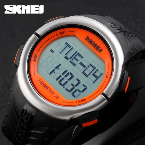 SKMEI Fashion Casual Pedometer Digital Sports Watch