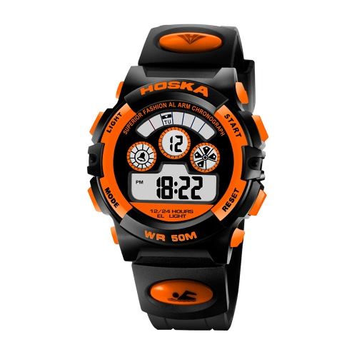 HOSKA 2017 LED Digital 50M Waterproof Student Sports Watch Electronic Boy Girl Children Wristwatch Alarm Backlight Stopwatch 7 Colors + BoxHOSKA 2017 LED Digital 50M Waterproof Student Sports Watch Electronic Boy Girl Children Wristwatch Alarm Backlight Stopwatch 7 Colors + Box<br><br>Blade Length: 11.0cm