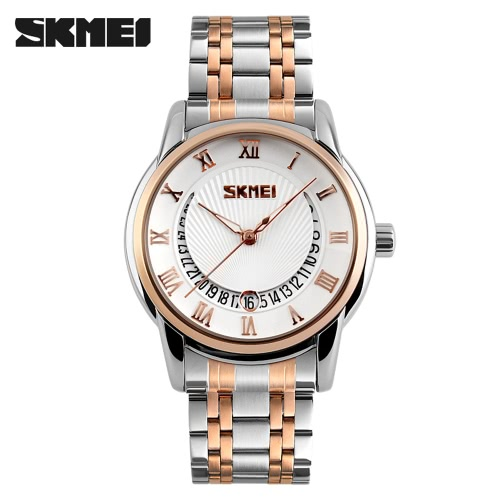 SKMEI 2016 New Arrival Fashion 30M Waterproof Dress Watches Men Business Quartz Watch Classic Luxury Wristwatch Black