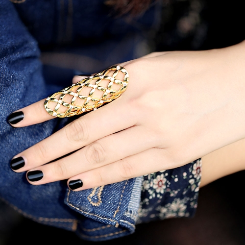 Fashion Punk Style Rhinestone Hollow Fingers Ring Charming J0025G