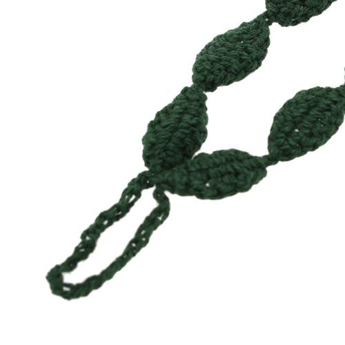 Cotton Thread Crochet Foot Chain Bracelet Anklet Green Leaves Beach Barefoot Sandal