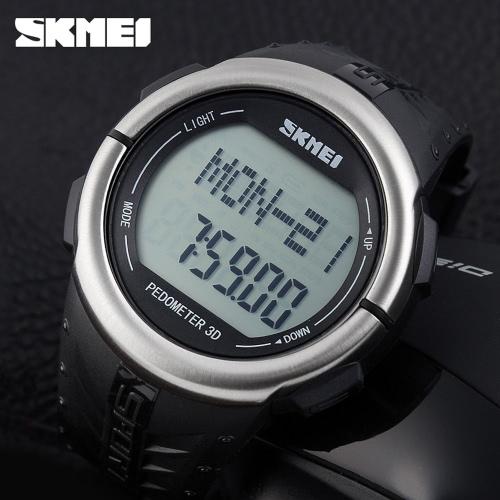 SKMEI Pedometer Digital Sports Watch Heart Rate