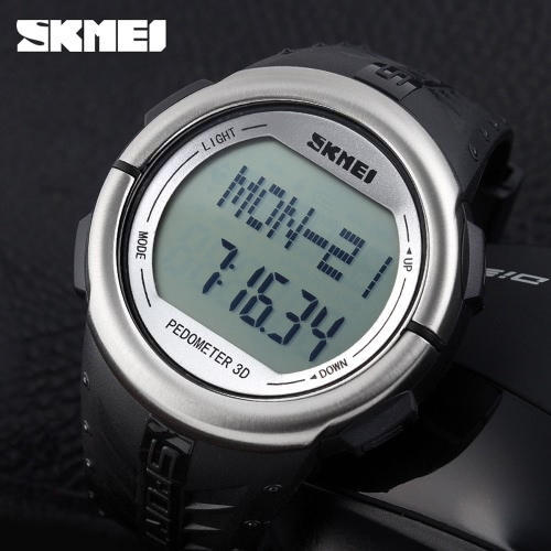 SKMEI Pedometer Digital Sports Watch Heart Rate