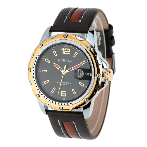 CURREN Water Resistant Wristwatch Stainless Steel Leather Watchband Business Watch with CalendarQuartz Watches<br>CURREN Water Resistant Wristwatch Stainless Steel Leather Watchband Business Watch with Calendar<br><br>Blade Length: 30.0cm