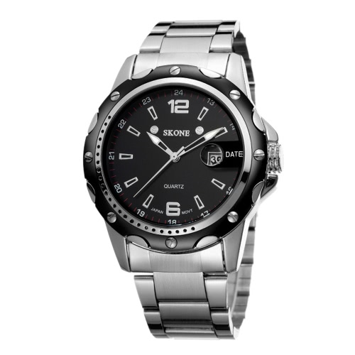 SKONE High Quality Alloy Watchband Waterproof Quartz Men Watch Hot Sell Fashion Precise Wristwatch with CalendarQuartz Watches<br>SKONE High Quality Alloy Watchband Waterproof Quartz Men Watch Hot Sell Fashion Precise Wristwatch with Calendar<br><br>Blade Length: 16.0cm