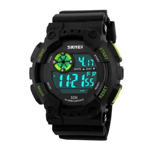 SKMEI High Quality 5ATM Waterproof Sports Wristwatch Fashion Outdoor Activity Military Cool Watch wi