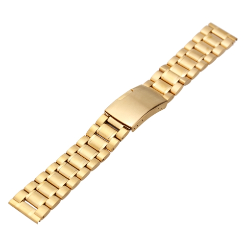 Image of High Quality Stainless Steel Watch Strap Durable Plain End Watchband with Link Pins and Spring Bar Tool 22mm