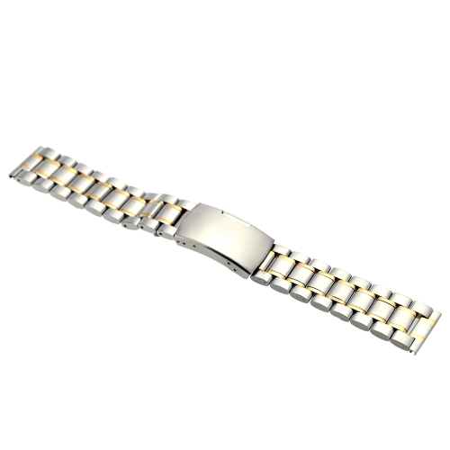 Image of Fashion High Quality Stainless Steel Watch Strap Durable Plain End Watchband with Link Pins and Spring Bar Tool 18mm