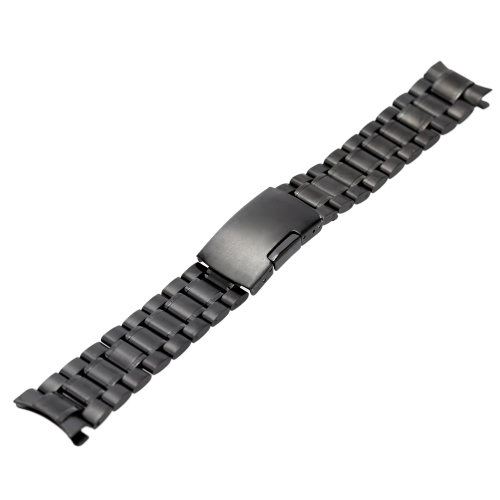 Image of Durable High Quality Stainless Steel Watch Strap Arc-shaped End Vintage Watchband with Link Pins and Spring Bar Tool 20mm