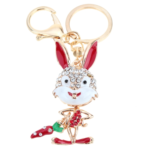 Fashional Jewelry Hollow Shinning Rhinestone Aureate Rabbit Pendant Key Ring Key ChainFashional Jewelry Hollow Shinning Rhinestone Aureate Rabbit Pendant Key Ring Key Chain<br><br>Blade Length: 15.0cm