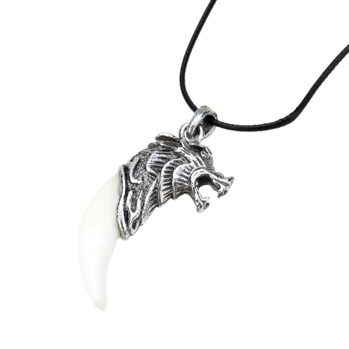 Men Antique Cool Vintage Retro Dragon Alloy Tribal Stark Wolf Tooth Pendant Venturer Necklace Chain JewelryNecklaces &amp; Pendants<br>Men Antique Cool Vintage Retro Dragon Alloy Tribal Stark Wolf Tooth Pendant Venturer Necklace Chain Jewelry<br><br>Blade Length: 8.0cm