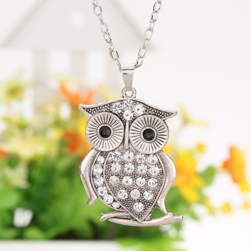 Fashion Vintage Retro Big Eyes Crystal Rhinestone Owl Pendant Necklace Sweater Chain Metal Alloy Bird Jewelry for Woman GirlNecklaces &amp; Pendants<br>Fashion Vintage Retro Big Eyes Crystal Rhinestone Owl Pendant Necklace Sweater Chain Metal Alloy Bird Jewelry for Woman Girl<br><br>Blade Length: 7.0cm