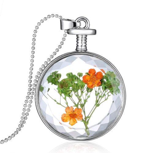 Fashion New Jewelry Romantic Transparent Crystal Glass Round Floating Locket Dried Flower Plant Specimen Golden/Silver Pendant Chain Necklace for Women GirlsNecklaces &amp; Pendants<br>Fashion New Jewelry Romantic Transparent Crystal Glass Round Floating Locket Dried Flower Plant Specimen Golden/Silver Pendant Chain Necklace for Women Girls<br><br>Blade Length: 30.0cm