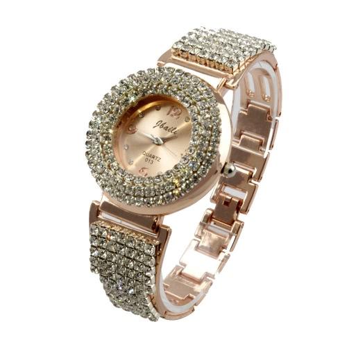 Luxury Retro Rhinestone Crystal Quartz Movement Analog Bracelet Decoration Wrap Wrist Watch for Girl Women
