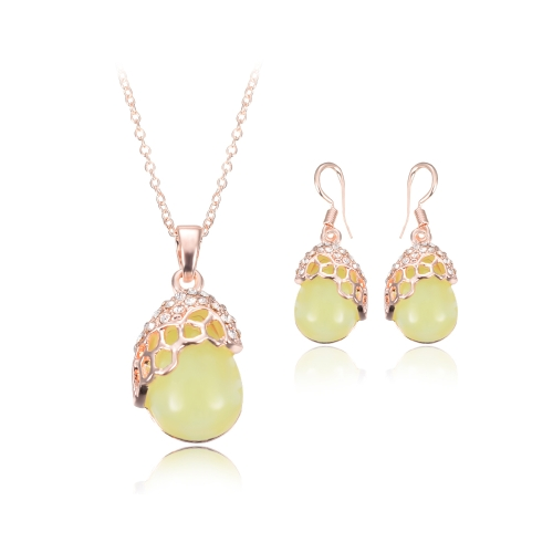 Crystal Jewelry Set Peacock &amp; Opal Pendant Necklace &amp; Earrings Zinc Alloy &amp; Rhinestone Fashional Accessories for WomenNecklaces &amp; Pendants<br>Crystal Jewelry Set Peacock &amp; Opal Pendant Necklace &amp; Earrings Zinc Alloy &amp; Rhinestone Fashional Accessories for Women<br><br>Blade Length: 10.0cm