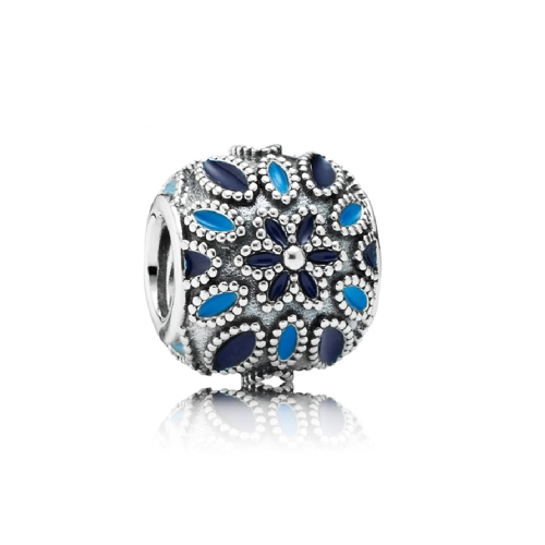 Romacci Blue Star Enameled Bead CZ Diamond S925 Sterling Silver for European Charm Bracelet DIY Women Jewelry от Tomtop.com INT