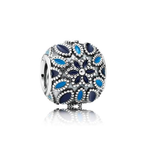 Romacci Blue Star Enameled Bead CZ Diamond S925 Sterling Silver for European Charm Bracelet DIY Women Jewelry от Tomtop.com INT
