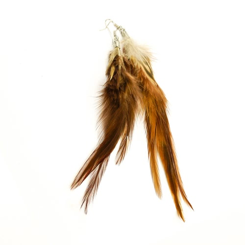 Fashion Cute Long Downy Feather Chandelier Dangle Earring Eardrop Women Girl Party Jewelry Accessory GiftEarrings<br>Fashion Cute Long Downy Feather Chandelier Dangle Earring Eardrop Women Girl Party Jewelry Accessory Gift<br><br>Product weight: 9.45g