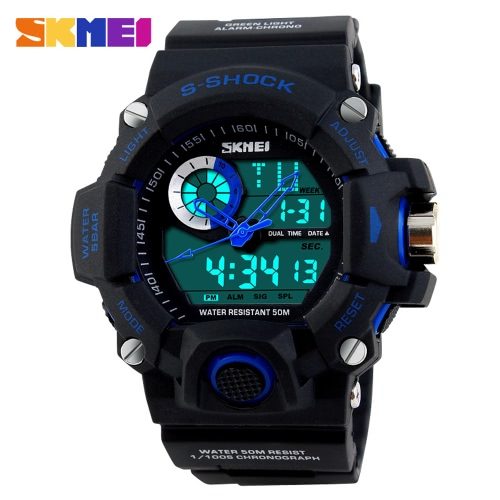 SKMEI Professional Dual Time Multifunctional High Quality Men Sports Wristwatch Water Resistant Outdoor Electronic Watch with Functions of Date Week Alarm Split TimeSports watch<br>SKMEI Professional Dual Time Multifunctional High Quality Men Sports Wristwatch Water Resistant Outdoor Electronic Watch with Functions of Date Week Alarm Split Time<br><br>Blade Length: 14.0cm