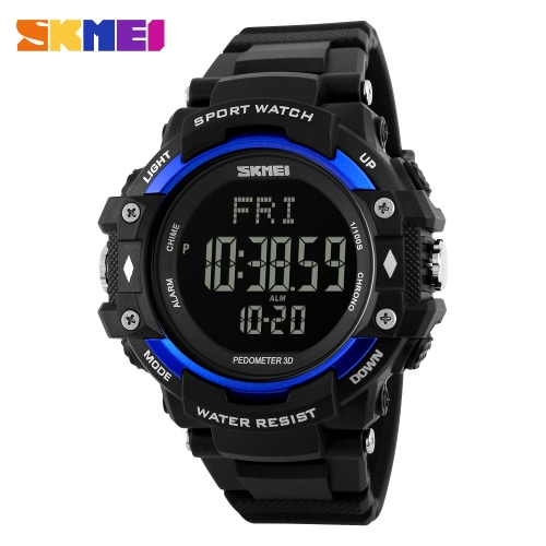 SKMEI 3D Pedometer Sports Men Watches Heart
