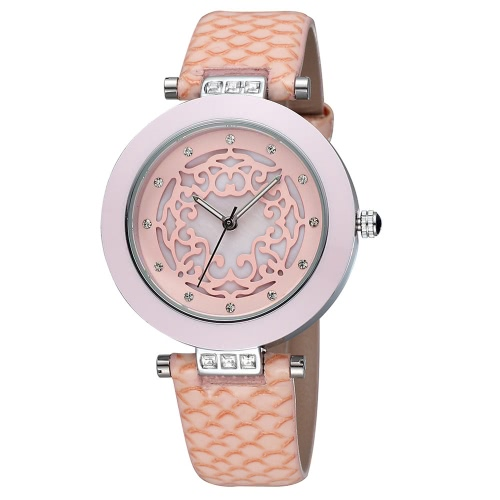 SKONE New Style Lady PU Strap Watches Fashion Women Dress Wristwatch J0763P