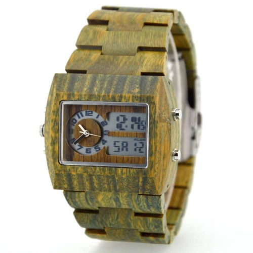 Men Dual Time Environmental High Quality Verawood Wristwatch Water Resistant Trendy Luminous Watch with Calendar &amp; AlarmVintage Watches<br>Men Dual Time Environmental High Quality Verawood Wristwatch Water Resistant Trendy Luminous Watch with Calendar &amp; Alarm<br><br>Blade Length: 13.0cm