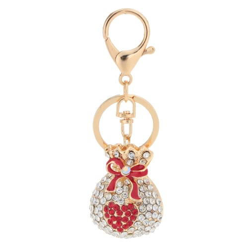 Fashion Crystal Rhinestone Hollow Lucky Gift Bag Heart Key RingBracelets &amp; Bangles<br>Fashion Crystal Rhinestone Hollow Lucky Gift Bag Heart Key Ring<br><br>Product weight: 54.0g