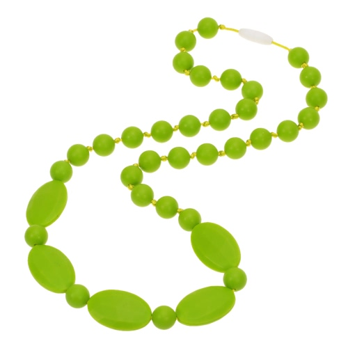 100% Food Grade Silicone Teething Necklace Soft Beads for Chew Baby J1028GR