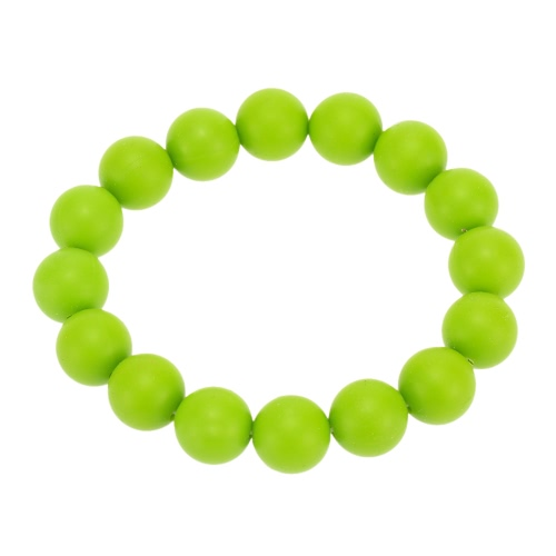 100% Food Grade Silicone Teething Teether Loop Bracelet Bangle Soft Beads for Chew Baby Nursing Jewelry Toy BPA Free