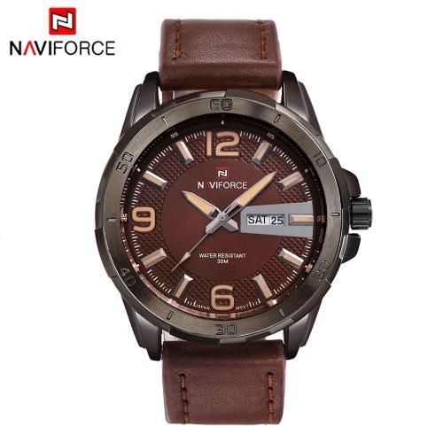 Buy NAVIFORCE Fashion Luxury Brand Men Business Wristwatch Luminous 3ATM Water-resistant Man Casual Quartz Watch Date