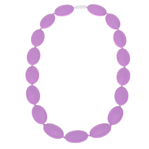 100% Food Grade Silicone Teething Necklace Soft Beads for Chew Baby J1029PU