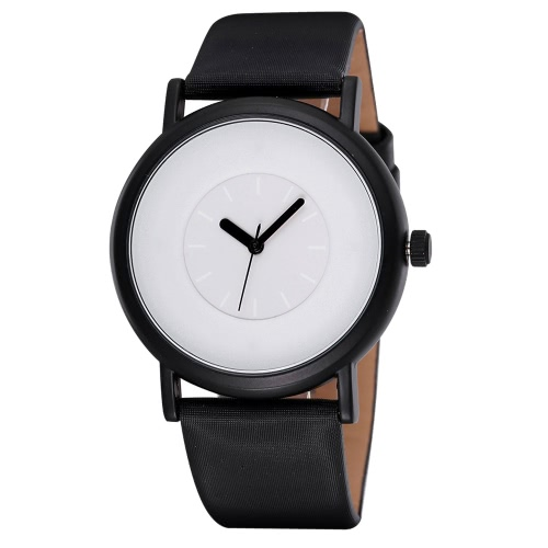 SINOBI Brand New Simple Women's Watches Casual PU Lady Watch Fashion Blue / Black / White Wristwatch J0963W