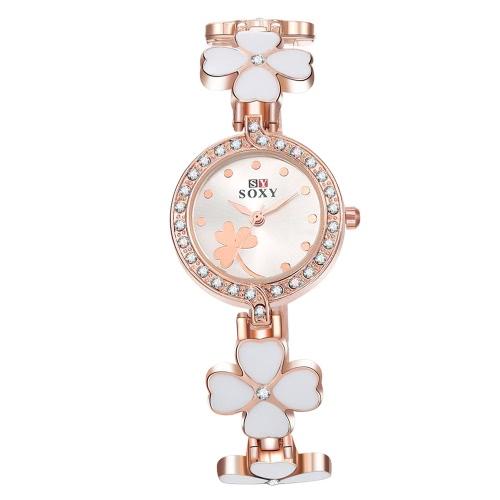 SOXY Womens Casual Quartz Electronic Bracelet Wrist WatchQuartz Watches<br>SOXY Womens Casual Quartz Electronic Bracelet Wrist Watch<br><br>Product weight: 42.45g