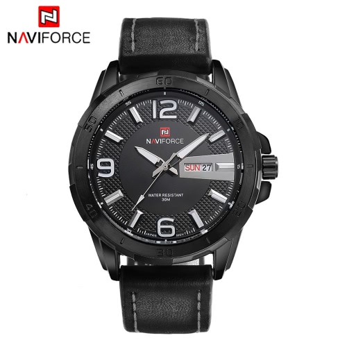 NAVIFORCE Fashion Luxury Brand Men Business Wristwatch Luminous 3ATM Water-resistant Man Casual Quartz Watch with Date J1168BW
