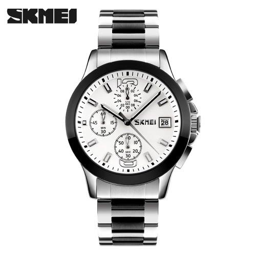 SKMEI 2016 Top Brand New Arrival Men Business Luxury Wristwatch Six Pins Quartz Watch 30M Waterproof Dress Watches Stopwatch J1693W