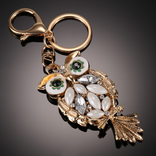 Fashionable Charm Jewelry Hollow Shining Rhinestone Aureate Animal Owl Pendant Key Ring Chain for Handbag Bag Women GiftNecklaces &amp; Pendants<br>Fashionable Charm Jewelry Hollow Shining Rhinestone Aureate Animal Owl Pendant Key Ring Chain for Handbag Bag Women Gift<br><br>Blade Length: 8.0cm