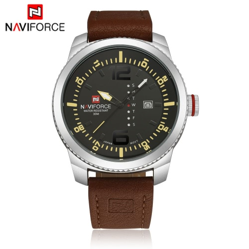 NAVIFORCE Classic Luxury Analog Quartz Watch 3ATM Water Resistant High Quality Comfortable PU Watchband Casual Man Wristwatch with Date/Weeks DisplayQuartz Watches<br>NAVIFORCE Classic Luxury Analog Quartz Watch 3ATM Water Resistant High Quality Comfortable PU Watchband Casual Man Wristwatch with Date/Weeks Display<br><br>Blade Length: 14.0cm